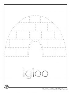 I is for Igloo Word Tracing