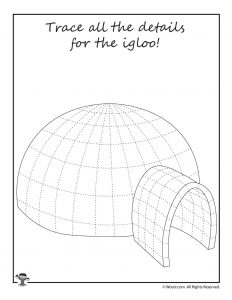 Igloo Tracing Activity