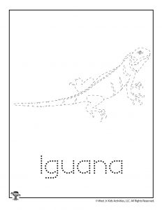 I is for Iguana Word Tracing