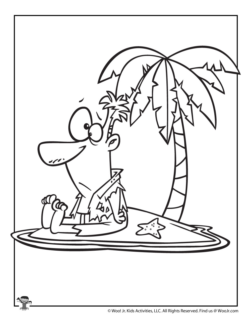 I is for Island Coloring Page | Woo! Jr. Kids Activities