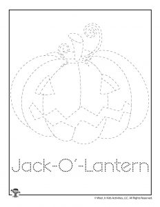 J is for Jack o' Lantern Word Tracing