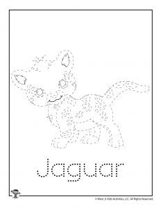 J is for Jaguar Word Tracing