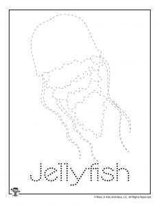 J is for Jellyfish Word Tracing