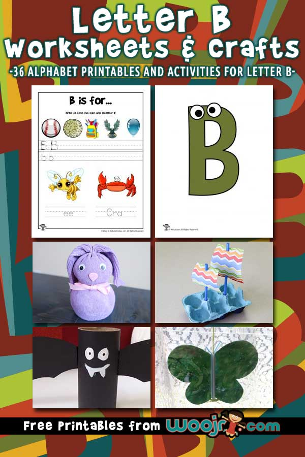 Letter B Worksheets and Crafts