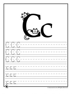 Letter C Tracing Practice