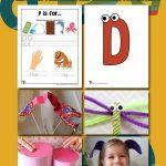 Letter D Worksheets & Crafts