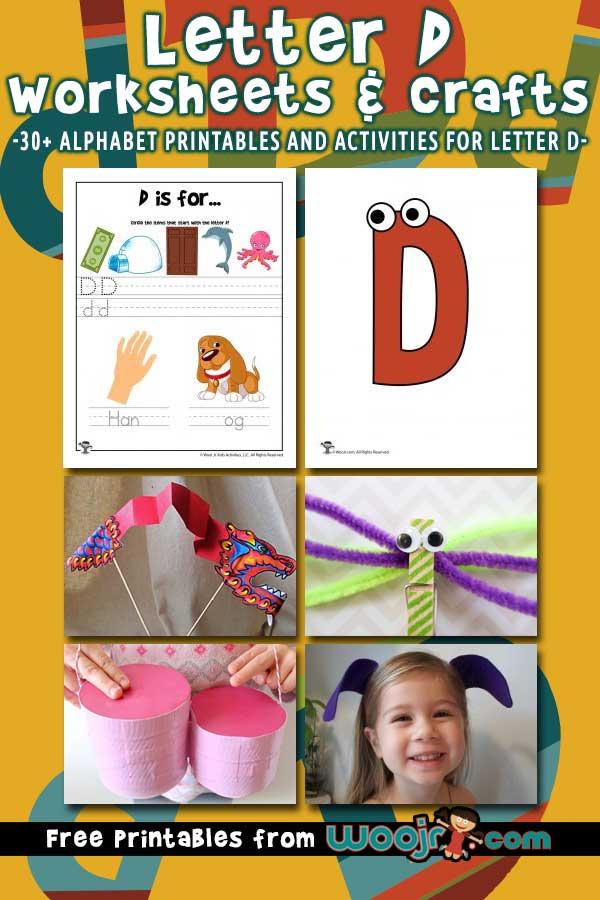 Letter D Worksheets and Crafts