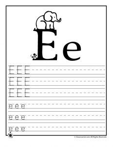 Letter E Tracing Practice