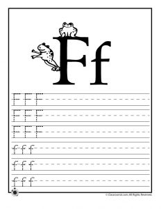 Letter F Tracing Practice