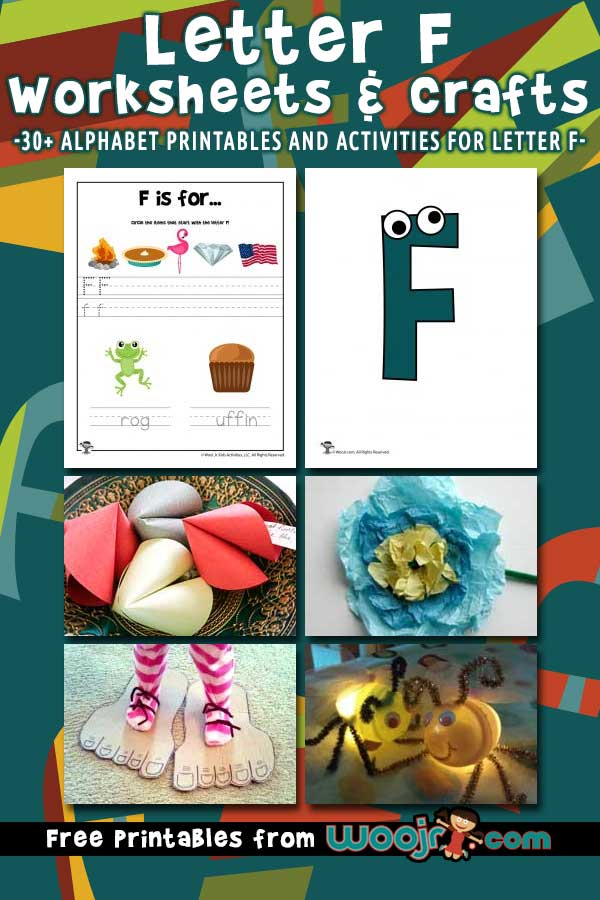 Letter F Worksheets and Crafts