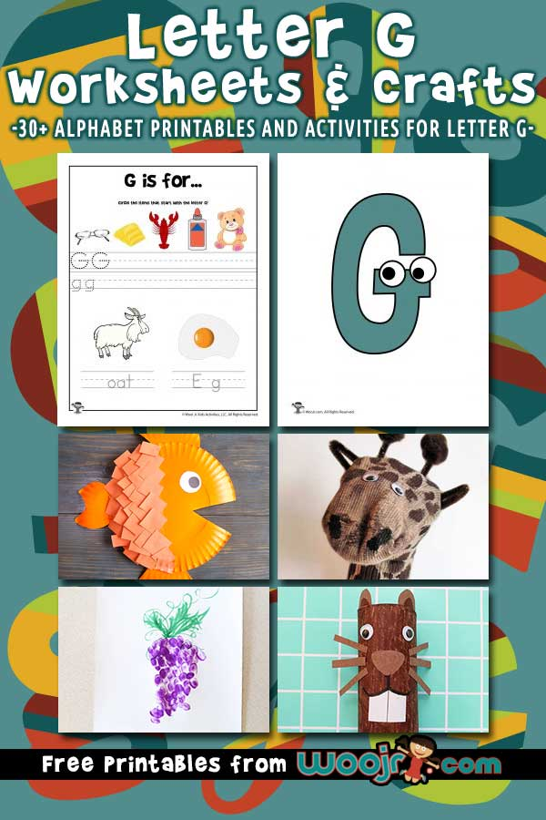 Letter G Worksheets and Crafts