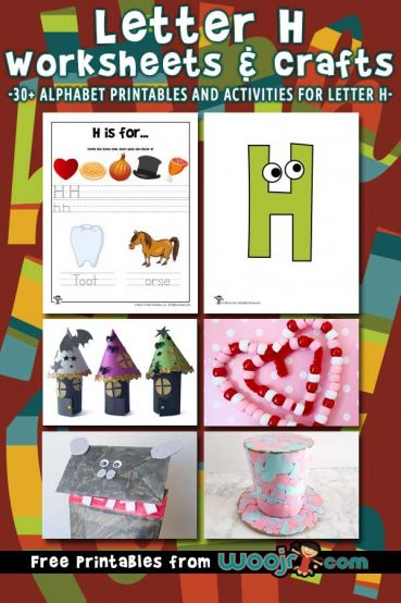 Letter H Worksheets & Crafts
