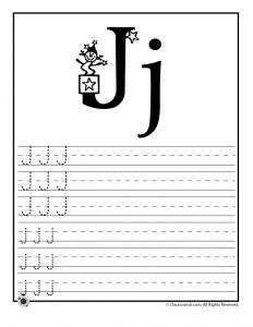 Letter J Tracing Practice