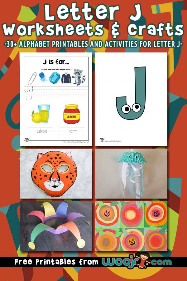 Letter J Worksheets and Crafts