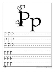 Letter P Tracing Practice