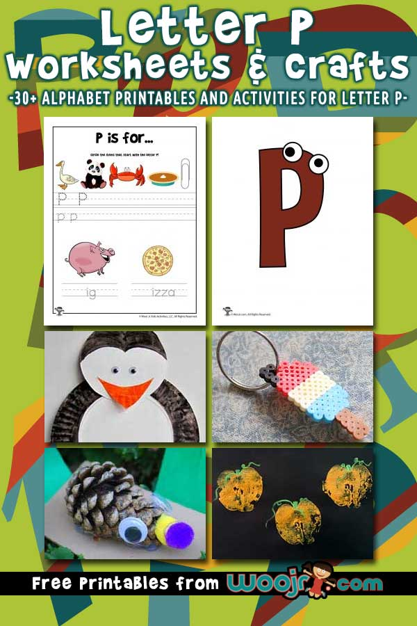 Letter P Worksheets and Crafts