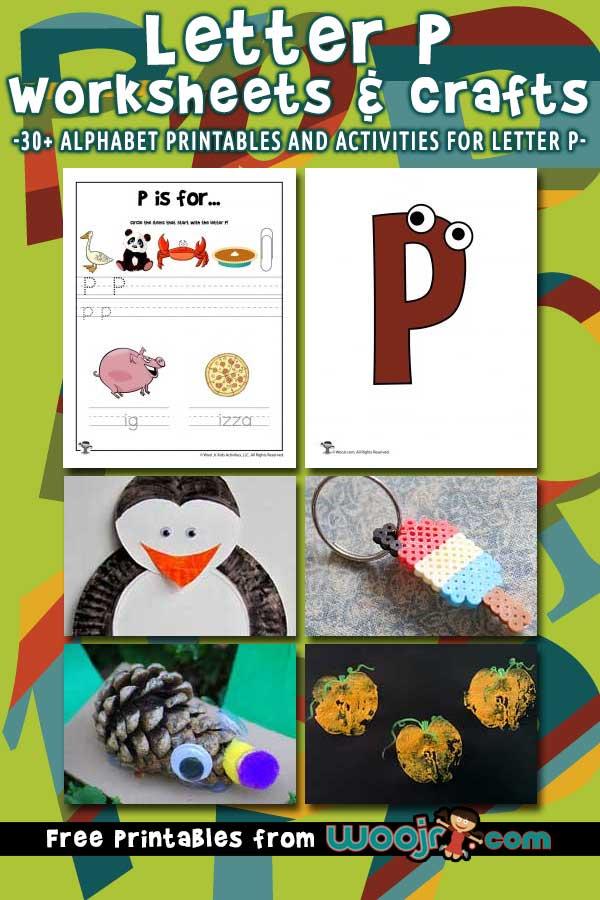 Letter P Worksheets Crafts Woo Jr Kids Activities