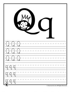 Letter Q Tracing Practice