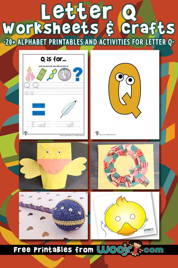 Letter Q Worksheets and Crafts