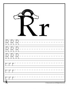 Letter R Tracing Practice