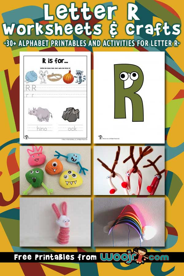 Letter R Worksheets and Crafts