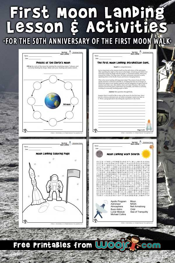 First Moon Landing Lesson Plan Activities