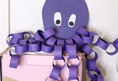 O Octopus Construction Paper Craft