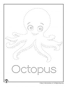 O is for Octopus Word Tracing