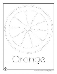 O is for Orange Word Tracing