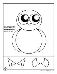 Owl Cut and Paste Activity Page