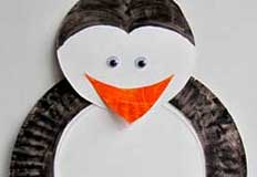 P Penguin Paper Plate Craft