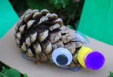 P Porcupine Pinecone Craft