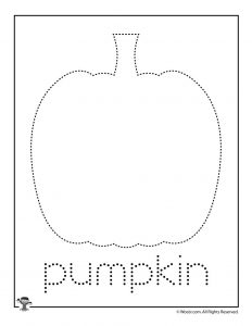 P is for Pumpkin Word Tracing