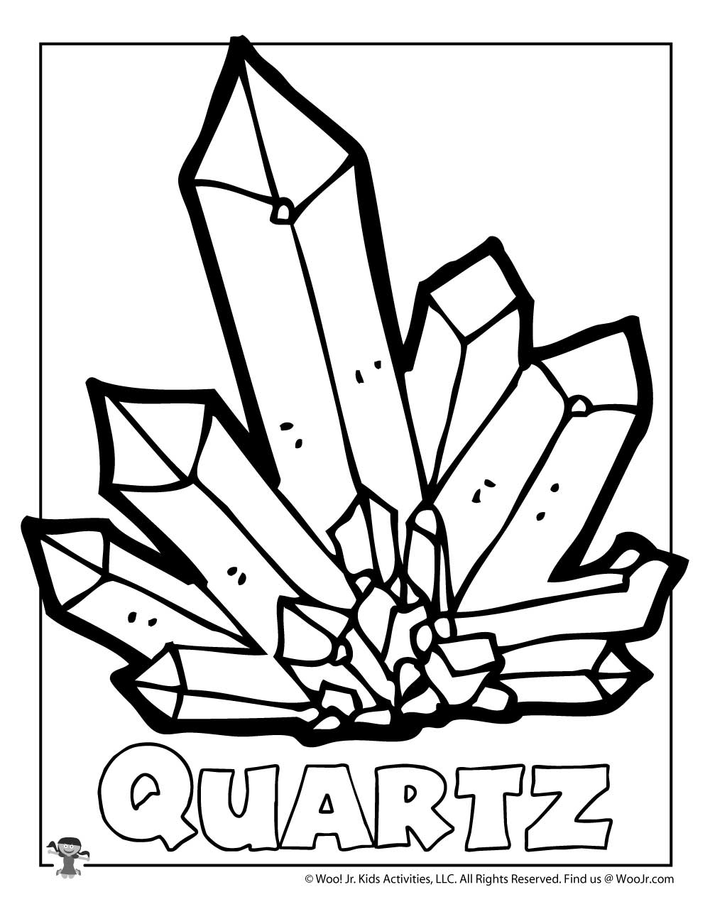 Q is for Quartz Coloring Page | Woo! Jr. Kids Activities