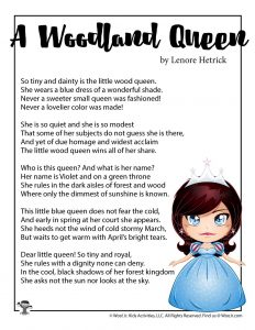 A Woodland Queen Children's Poem