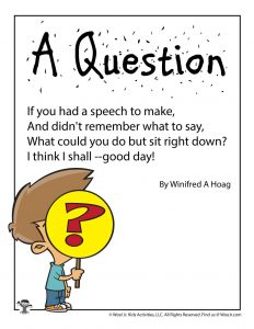 A Question Poem for Kids