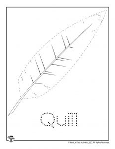 Q is for Quill Word Tracing