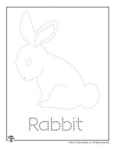 R is for Rabbit Word Tracing