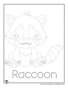R is for Raccoon Word Tracing