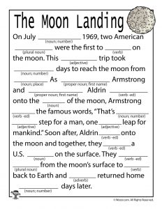 Moon Landing Mad Libs