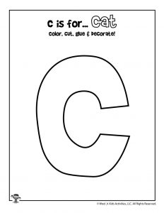 Printable Letter C Craft