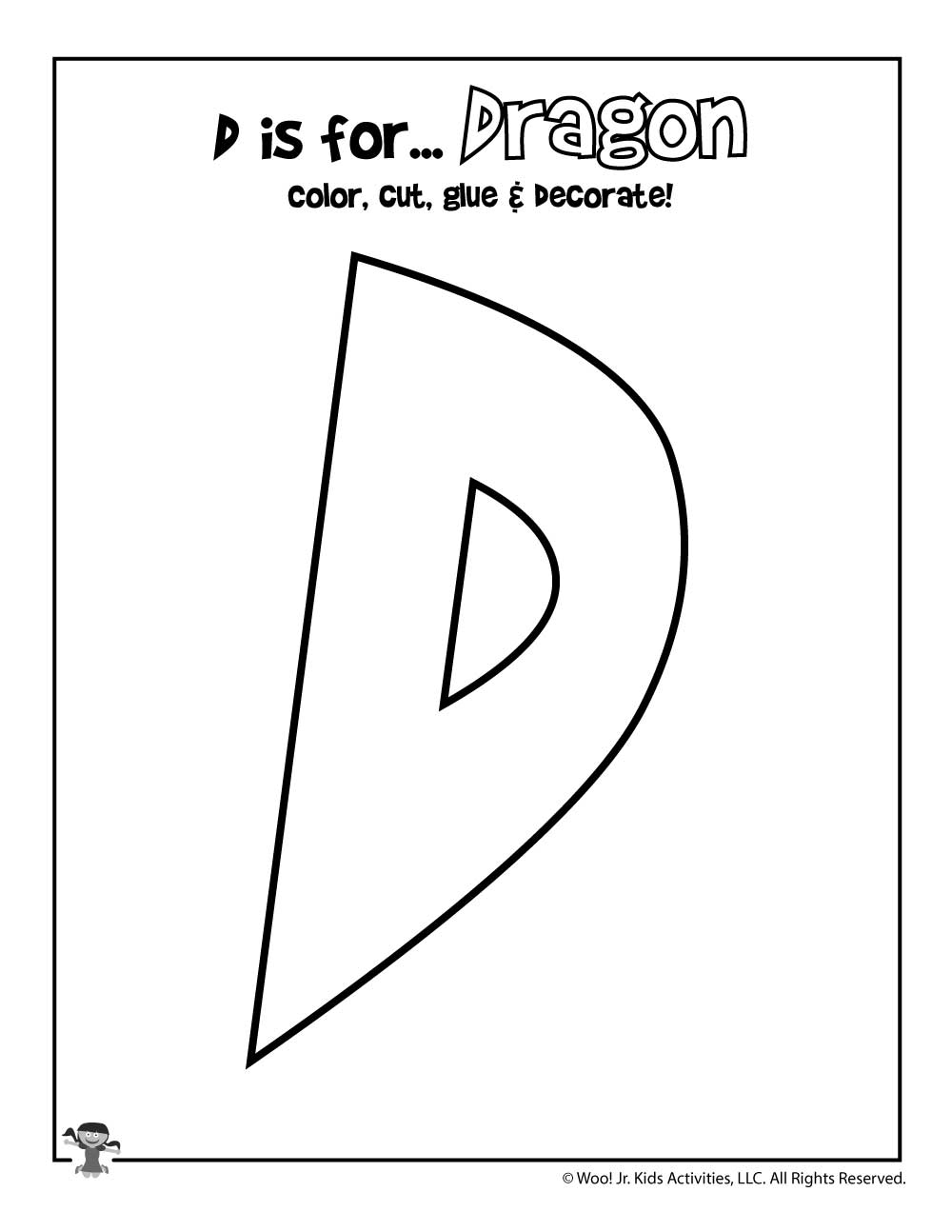 photograph regarding Printable Letter D known as Printable Letter D Craft Woo! Jr. Young children Actions