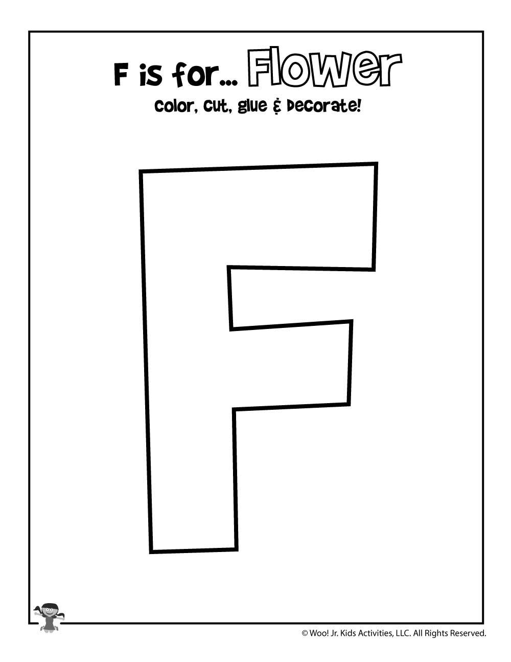 Printable Letter F Craft Woo Jr Kids Activities
