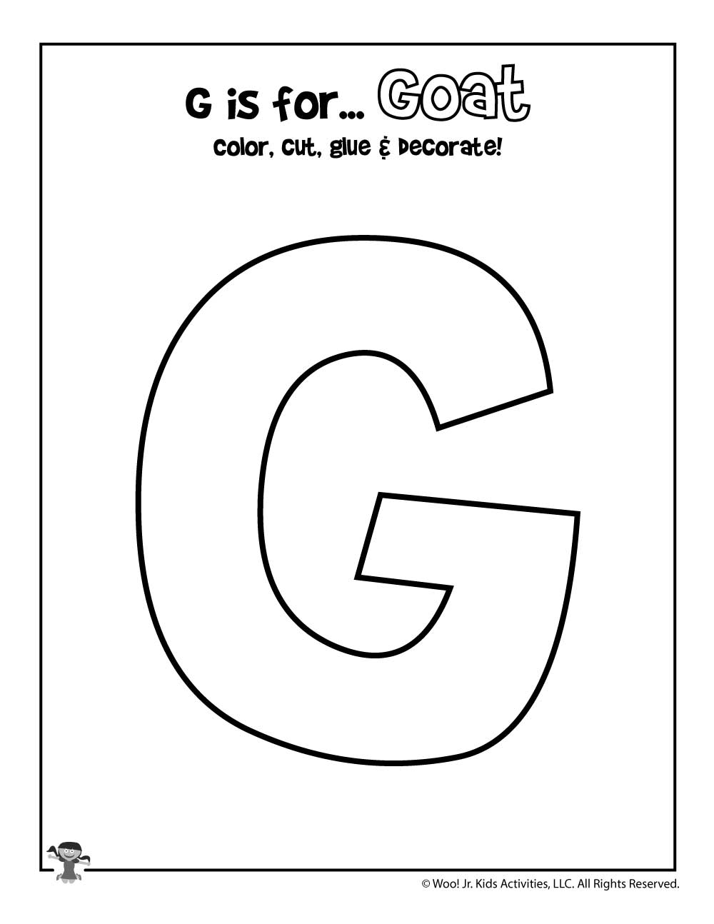 graphic regarding Printable Letter G named Printable Letter G Craft Woo! Jr. Youngsters Actions