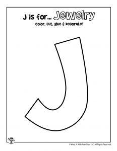 Printable Letter J Craft