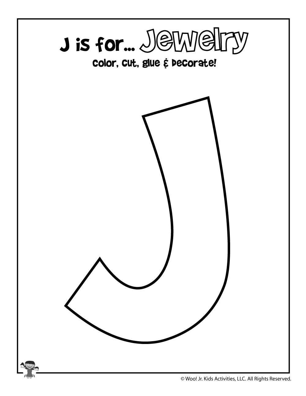 This is a picture of Crush Letter J Printable