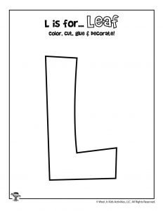 L is for Leaf Coloring Craft Activity