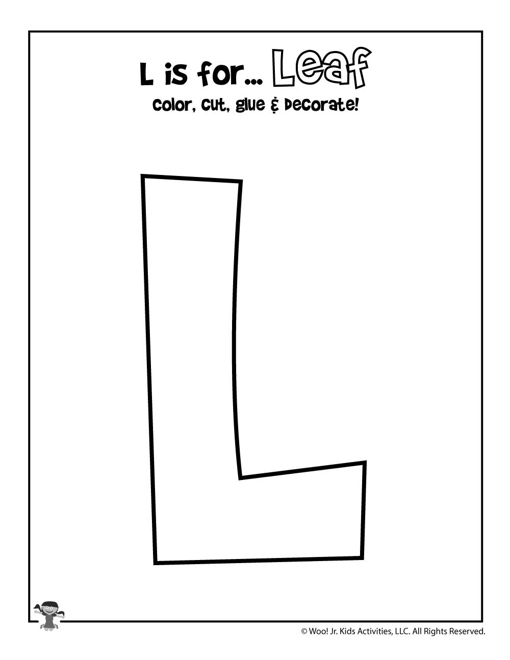 It's just a picture of Impeccable Letter L Printable