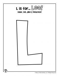 Printable Letter L Craft