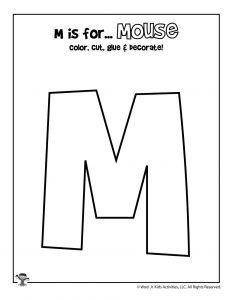 Printable Letter M Craft